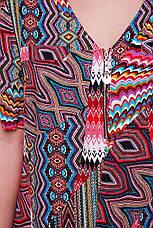 Летний брючный костюм больших размеров Донна красный, фото 3