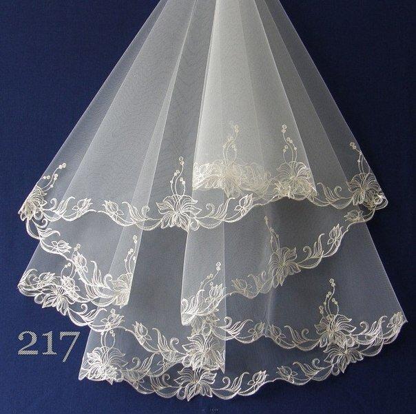 компъютерная вышивка на фате невесты