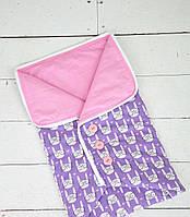 """Конверт-одеяло на выписку Лето """"Зайки"""""""