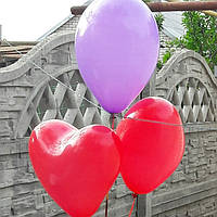 Шар сердце 26 см с гелием