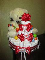 Подарок торт из подгузников, памперсов