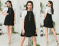 Платье - имитация болеро с украшением 222 норма (AMBR)