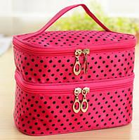 Женская сумочка для косметики розовая