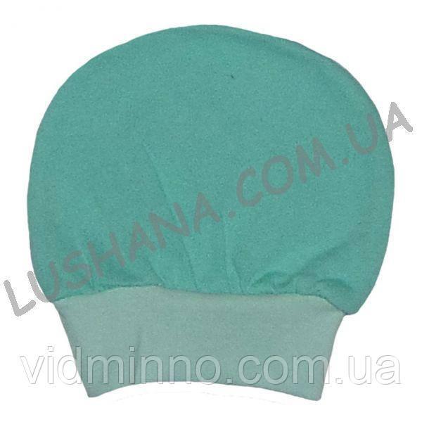 Тёплая однотонная шапочка на 3-6 месяцев - Начёс