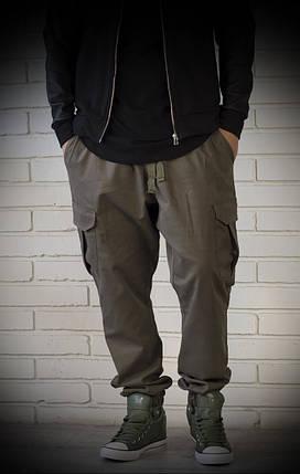Джоггеры хаки с карманами карго, фото 2