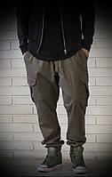 Джоггеры хаки с карманами карго
