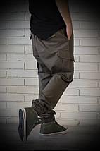 Джоггеры хаки с карманами карго, фото 3