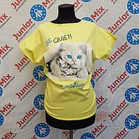 Трикотажная футболка на девочку  Flocco