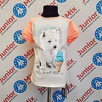 Летняя детская футболка на девочку Flocco