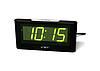 Часы сетевые 732-2 зеленые, фото 3