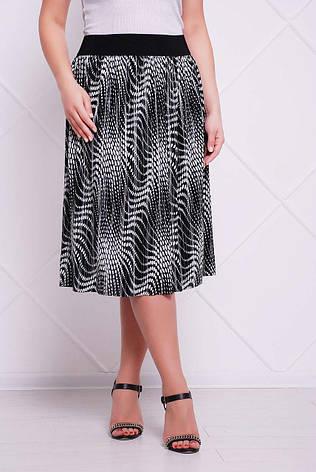 Плиссированная юбка больших размеров Тина серая (54-60), фото 2