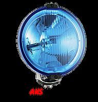 Фара дальнего света Ø 183 мм Wesem  HOS2.38810 с габаритом  LED RING 12В голубая