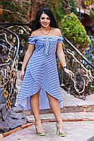 ДТ1131 Платье летнее в полоску