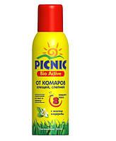 «Picnic» Bio Active   аэрозоль от комаров и клещей 125 мл.