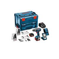 Шуруповерт аккумуляторный Bosch GSR 14.4 V-Li LS-BOXX + фонарь Bosch GLI VariLed + 77 предметов
