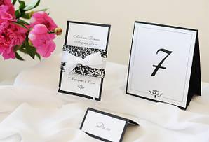 Розсадочні картки (банкетні картки, номерки для столів,план розсадки)