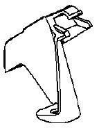 Кронштейн (опора , крепление) юбки (накладки) заднего бампера внизу посередине в центре GM 1406485 13307315 OPEL Insignia sedan (седан) & hatch