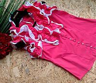 Блузка Рюши  13355 розовый размер 44-48р