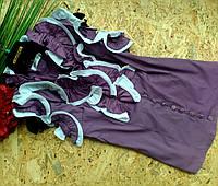 Блузка Рюши  13355 сирень размер 44-48р