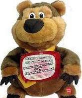 Мягкая механическая игрушка  поющий и танцующий медведь поет песню стаса михайлова за глаза твои карие!