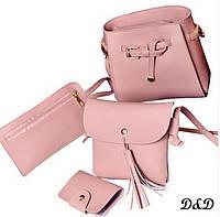 Набор женских сумок пудровый, фото 1