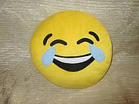 """Подушка смайлик Emoji 35 см """"Слёзы радости"""""""