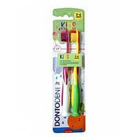 Дитячі зубні щітки Dontodent. Набір 2 шт. 3-6 років 32c13ae9a078c