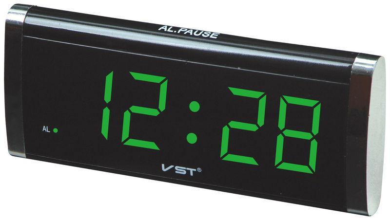 Часы сетевые 730-2 зеленые