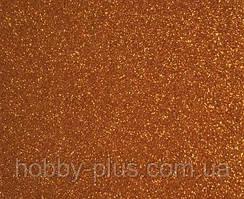 Фоамиран глиттерный 2 мм, 20x30 см, Китай, КОРИЧНЕВЫЙ