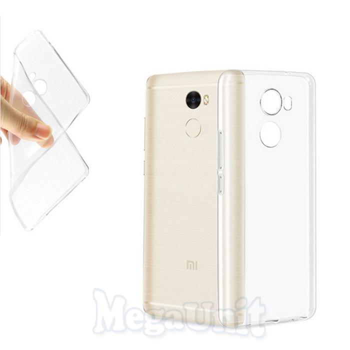 Прозрачный силиконовый чехол для Xiaomi Redmi 4