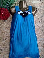 Блузка туника Марго 13442 голубой 42-48р