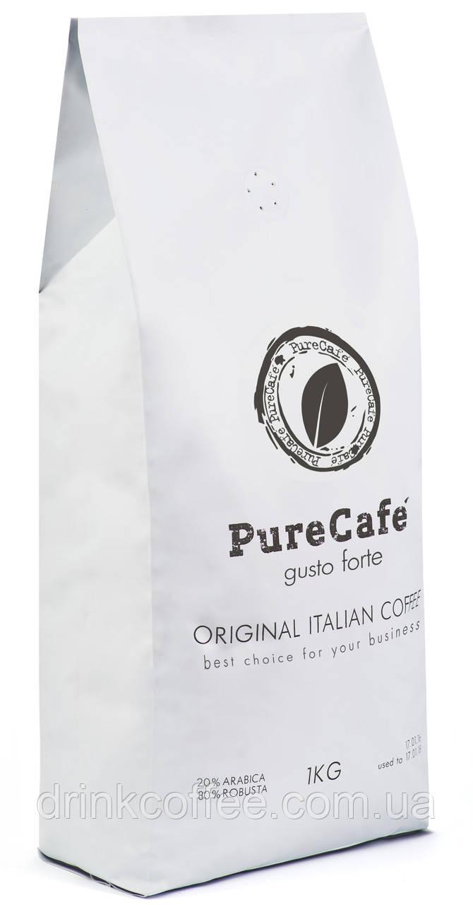 Кофе PureCafe Gusto Forte, зерно, 20% Арабики/80% Робусты, Италия, 1кг
