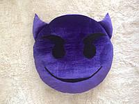 """Подушка смайл Emoji 35 см """"Весёлый чертёнок"""""""