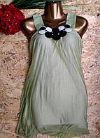 Блузка туника Марго 13442 оливка 42-48р