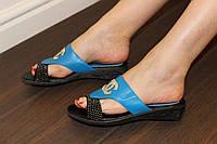 Б783 - Шлепанцы летние женские голубые