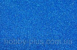 Фоамиран глиттерный 1,6 мм, 20x30 см, Китай, СИНИЙ