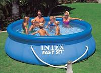 Надувной бассейн intex 28122 Easy Set Pool, 305 х 76 см с фильтр насосом, фото 1