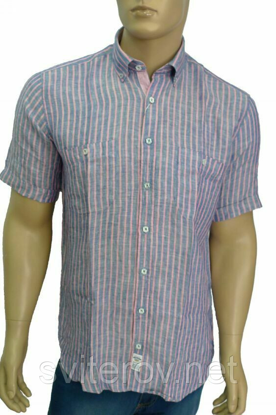 Модная льняная рубашка в полоску - Интернет магазин Sviterov.net в Киеве a0d809534313d