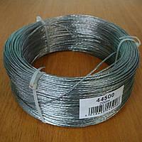 Трос для электроизгороди стальной оцинкованый Ø1,5 мм., 7 жил.