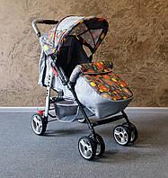 Детская прогулочная коляска Baby car с чехлом