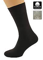 Носки мужские мерсеризованный хлопок темно- коричневые 400001