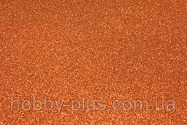 Фоамиран глиттерный 1,6 мм, 20x30 см, Китай, ОРАНЖЕВЫЙ
