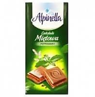 Молочный шоколад Alpinella с мятой 90 гр