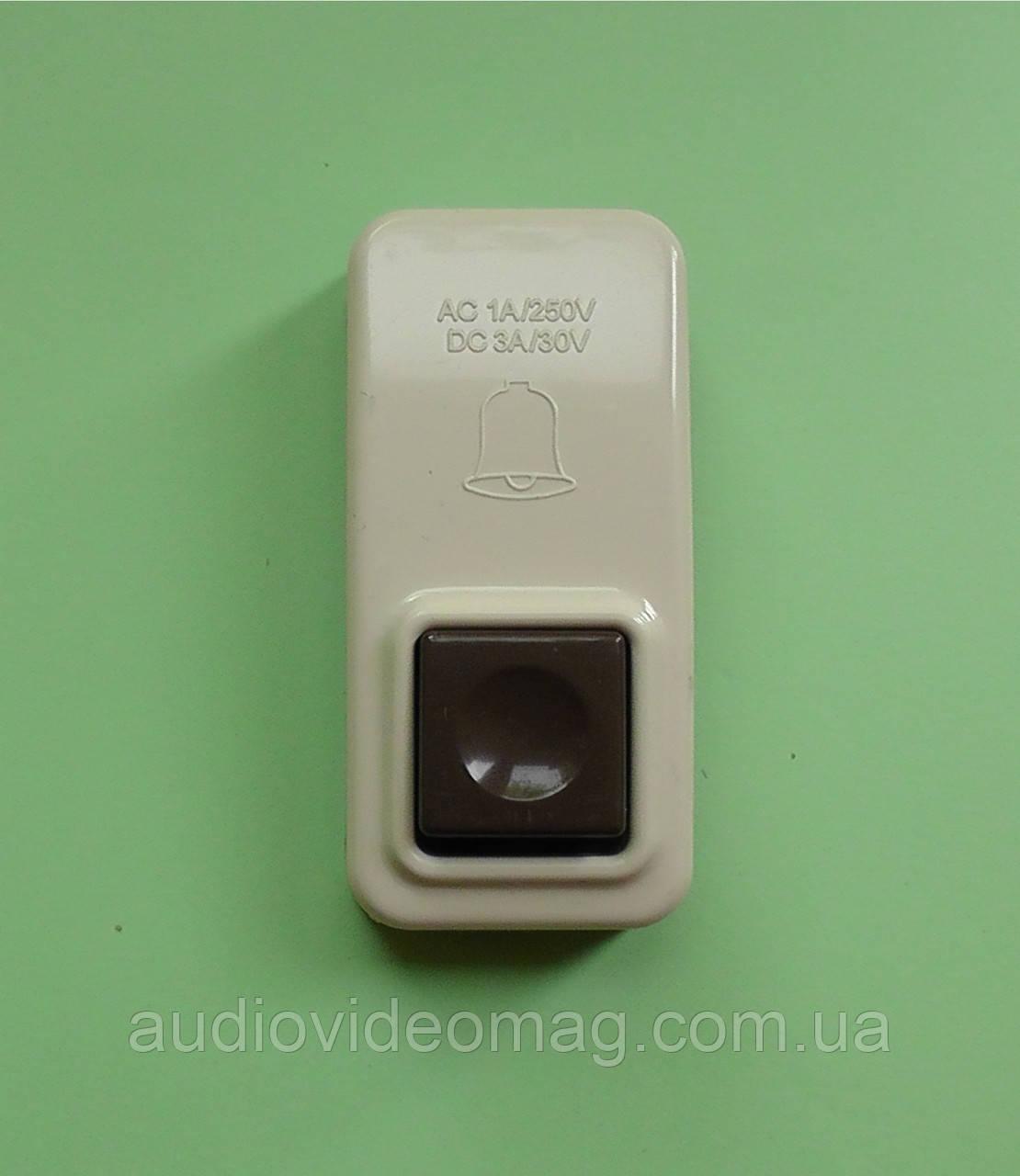 Кнопка без фиксации, для электрического звонка, AC 250V 1A, DC 30V 3A