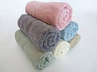 Махровое лицевое полотенце 100х50см (косичка)