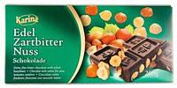 Черный шоколад с фундуком Karina feinherb nuss 0.200 гр.