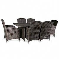 Комплект мебели из искусственного ротанга Poker (1 стол и 6 кресел)