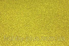 Фоамиран глиттерный 2 мм, 20x30 см, Китай, ЗОЛОТО