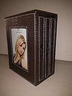Фотоальбом-коробка  кожаный