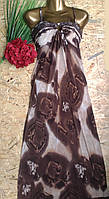 Сарафан в пол Елена 13401 коричневый